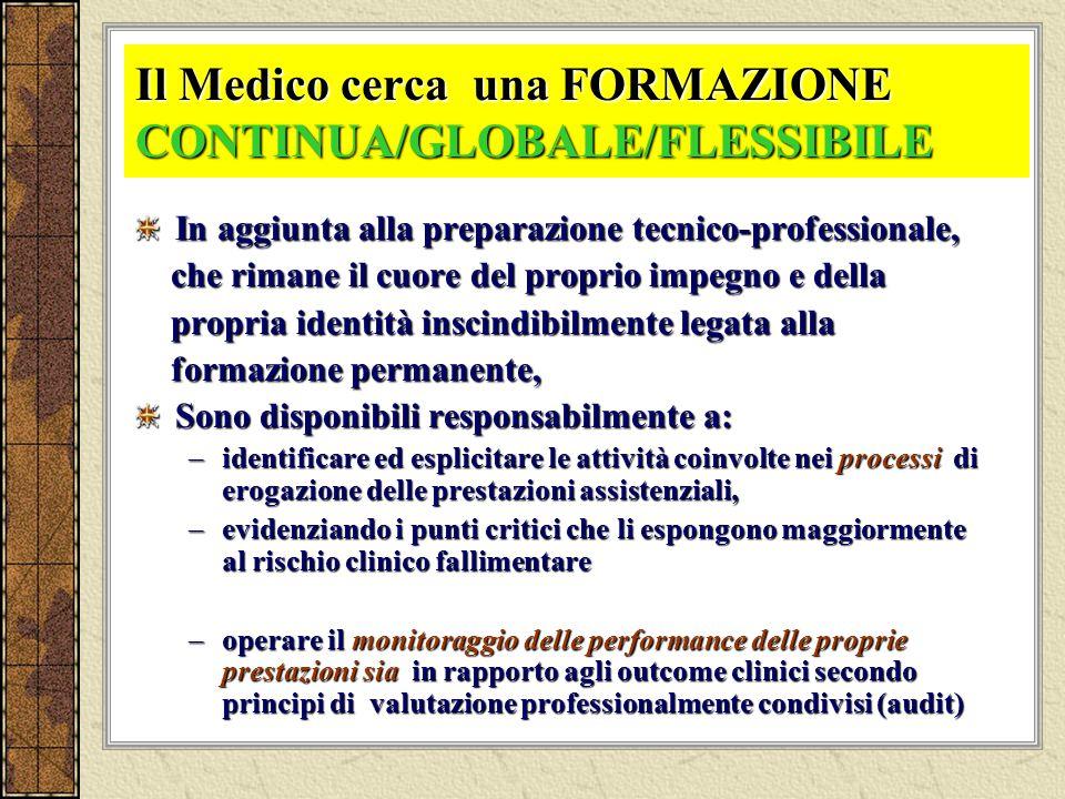 Il Medico cerca una FORMAZIONE CONTINUA/GLOBALE/FLESSIBILE