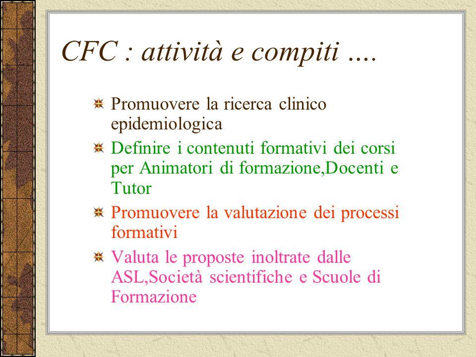 CFC : attività e compiti ….