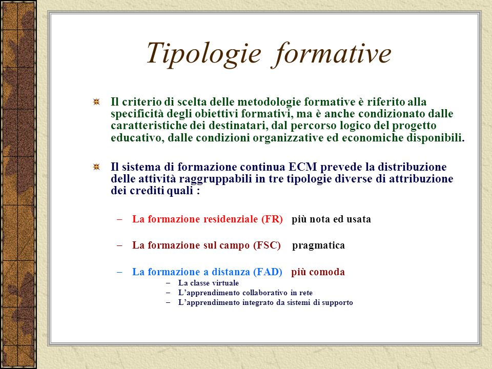 Tipologie formative