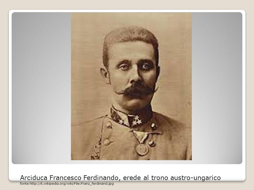 Arciduca Francesco Ferdinando, erede al trono austro-ungarico