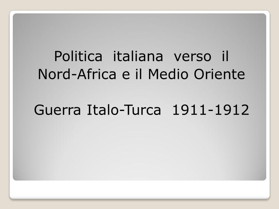 Politica italiana verso il Nord-Africa e il Medio Oriente