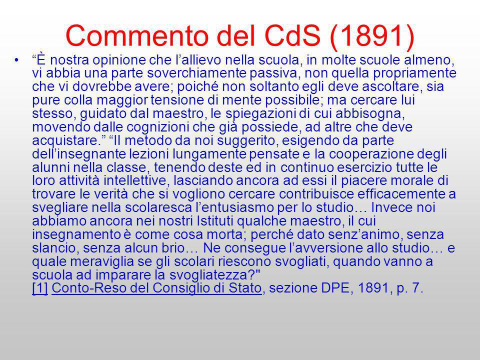 Commento del CdS (1891)