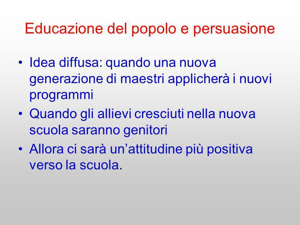 Educazione del popolo e persuasione
