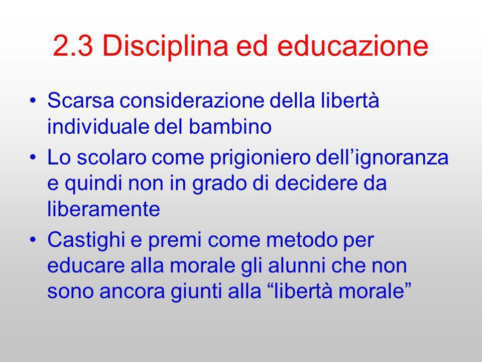 2.3 Disciplina ed educazione