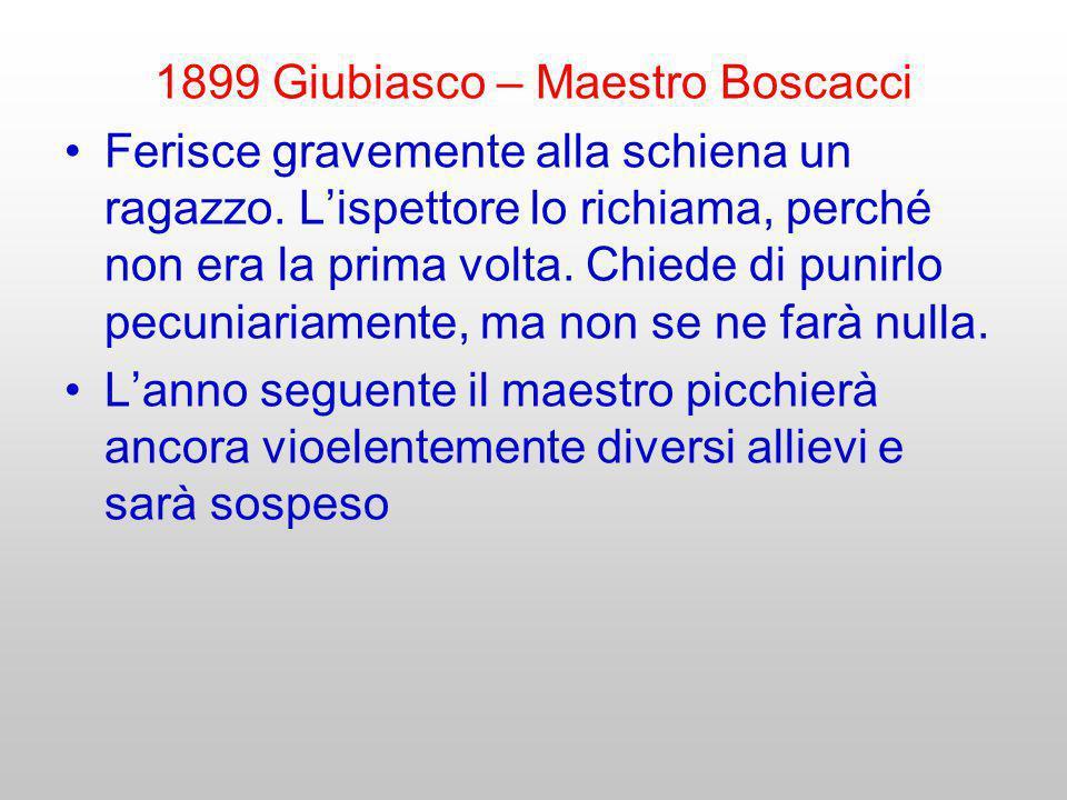 1899 Giubiasco – Maestro Boscacci