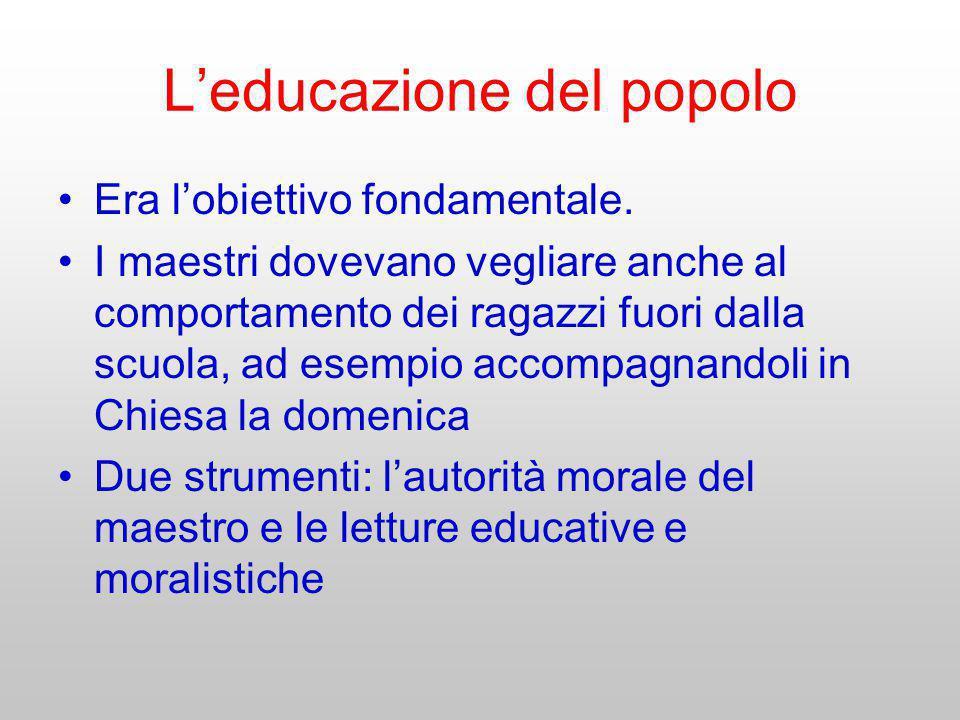 L'educazione del popolo