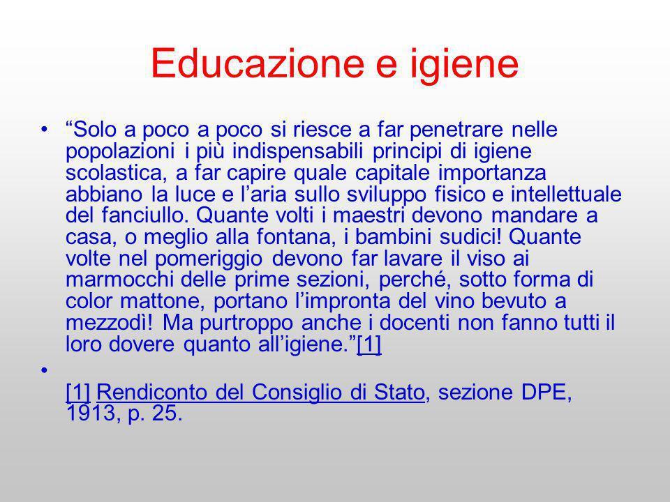 Educazione e igiene