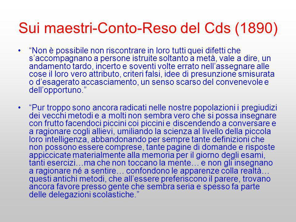 Sui maestri-Conto-Reso del Cds (1890)