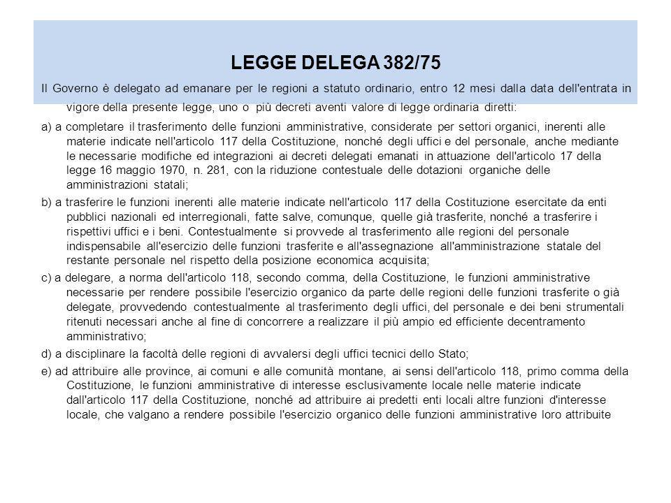 LEGGE DELEGA 382/75