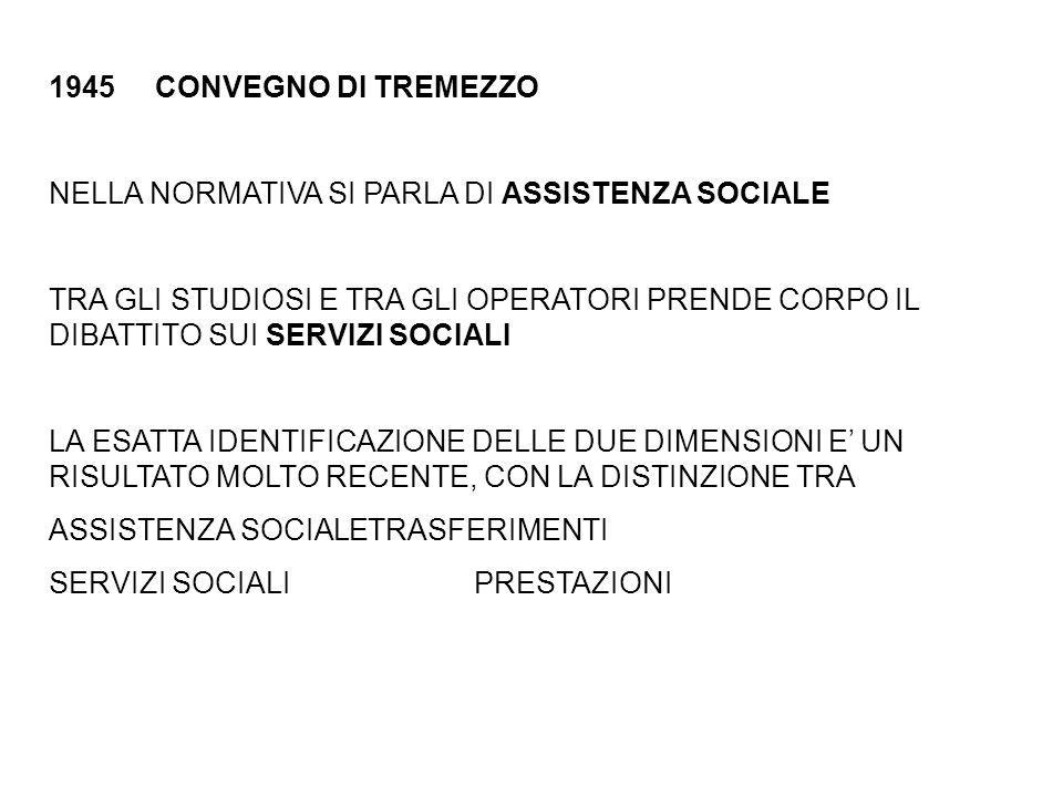 CONVEGNO DI TREMEZZO NELLA NORMATIVA SI PARLA DI ASSISTENZA SOCIALE.