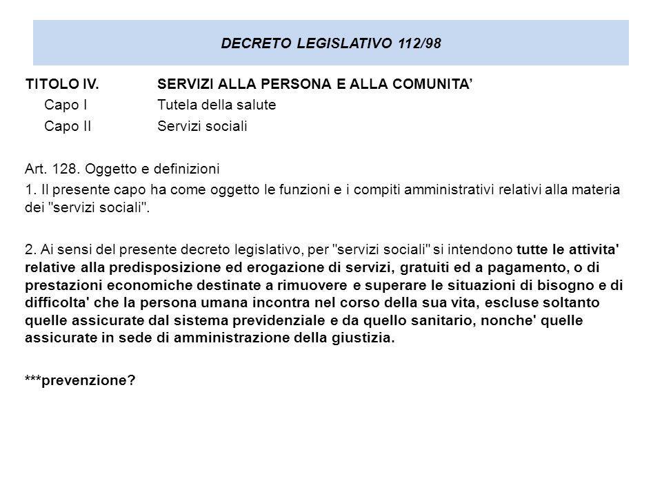 DECRETO LEGISLATIVO 112/98