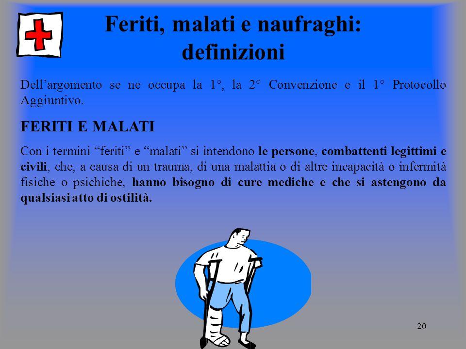 Feriti, malati e naufraghi: definizioni