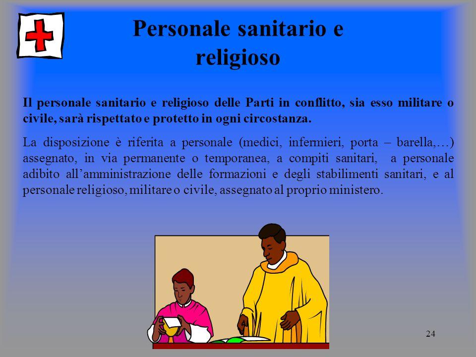 Personale sanitario e religioso