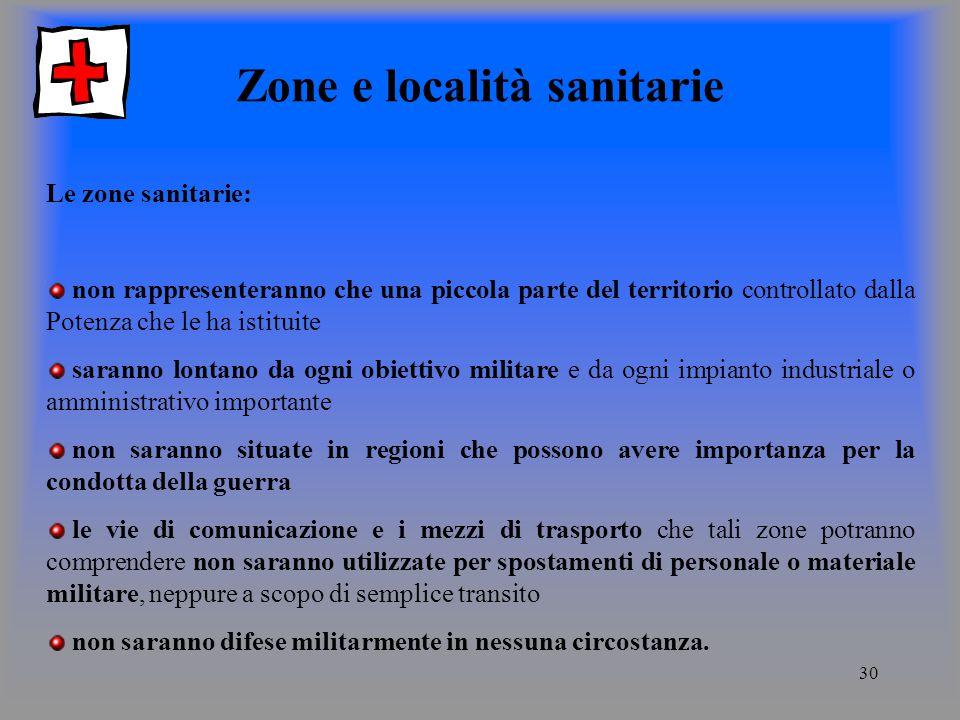 Zone e località sanitarie