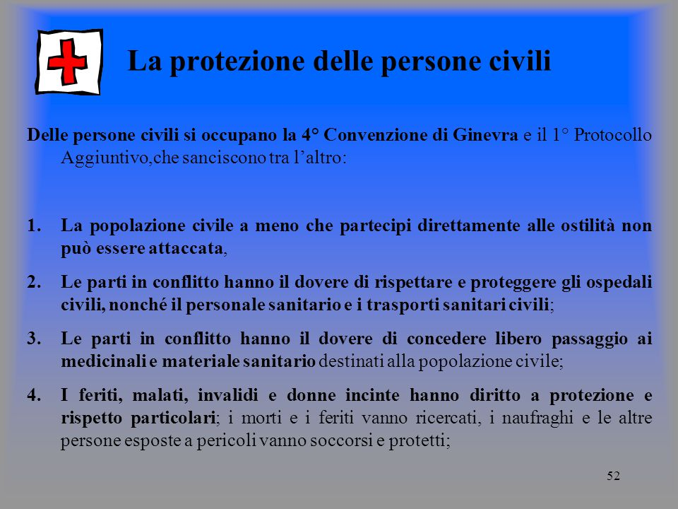 La protezione delle persone civili