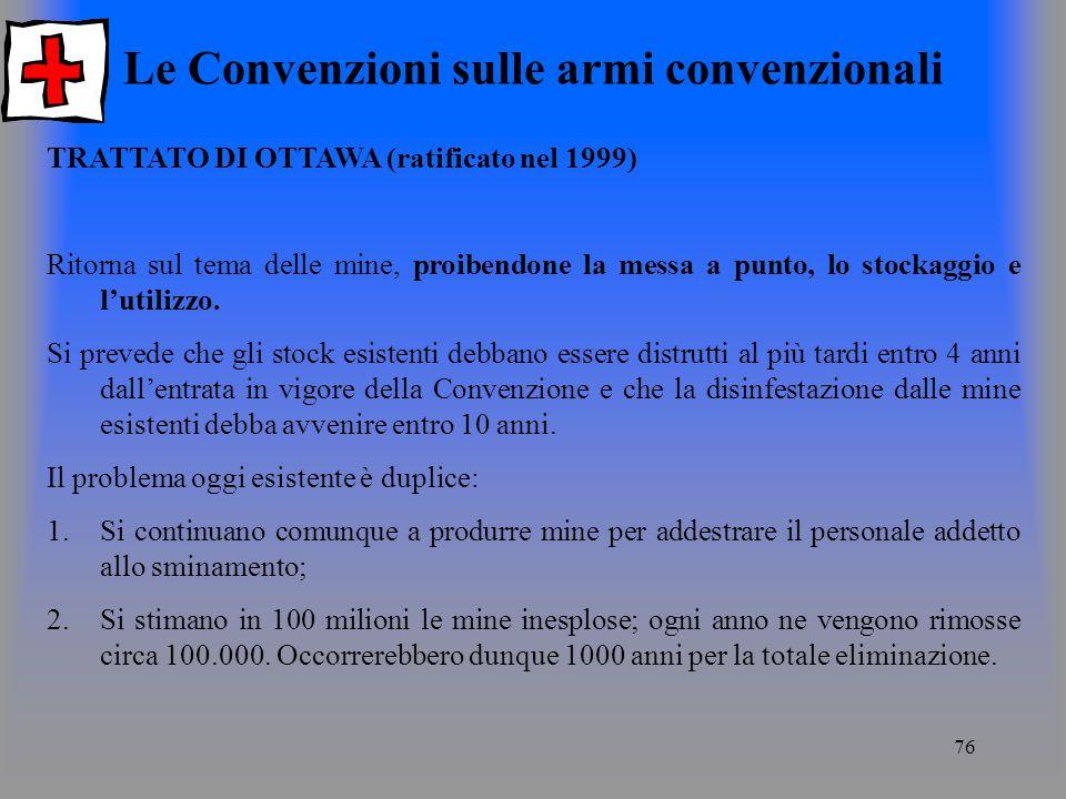 Le Convenzioni sulle armi convenzionali