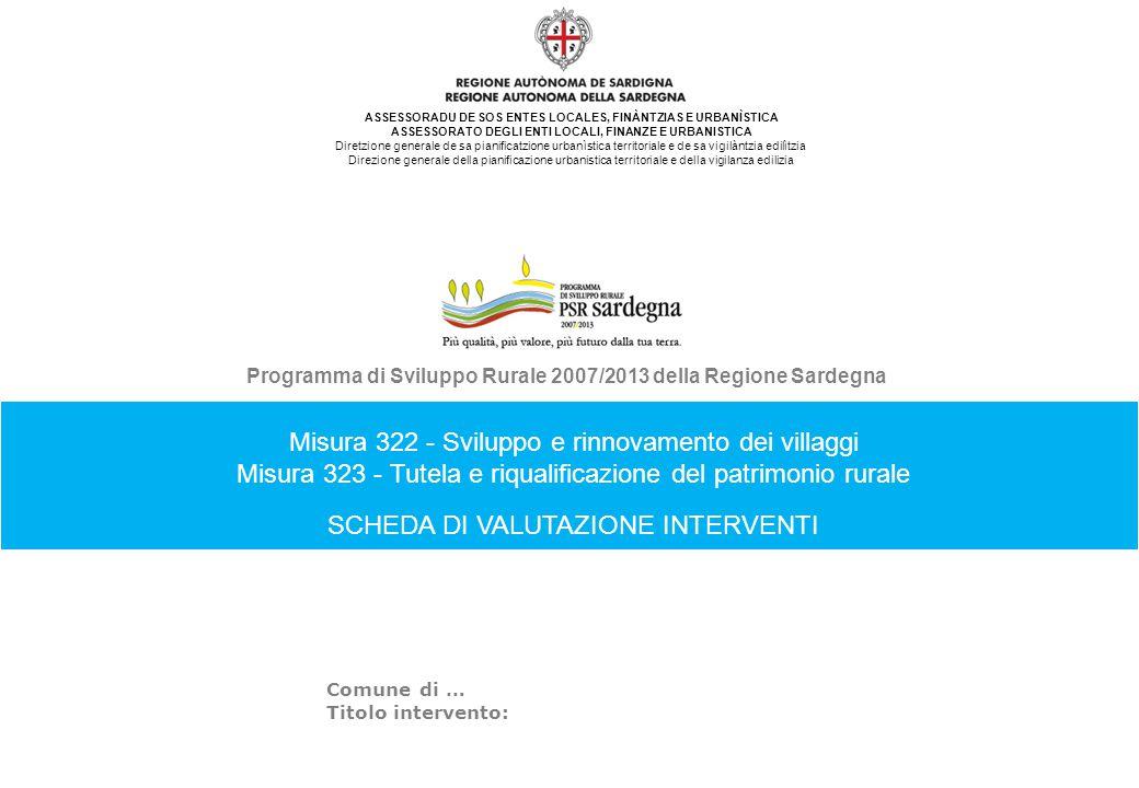 Misura 322 - Sviluppo e rinnovamento dei villaggi