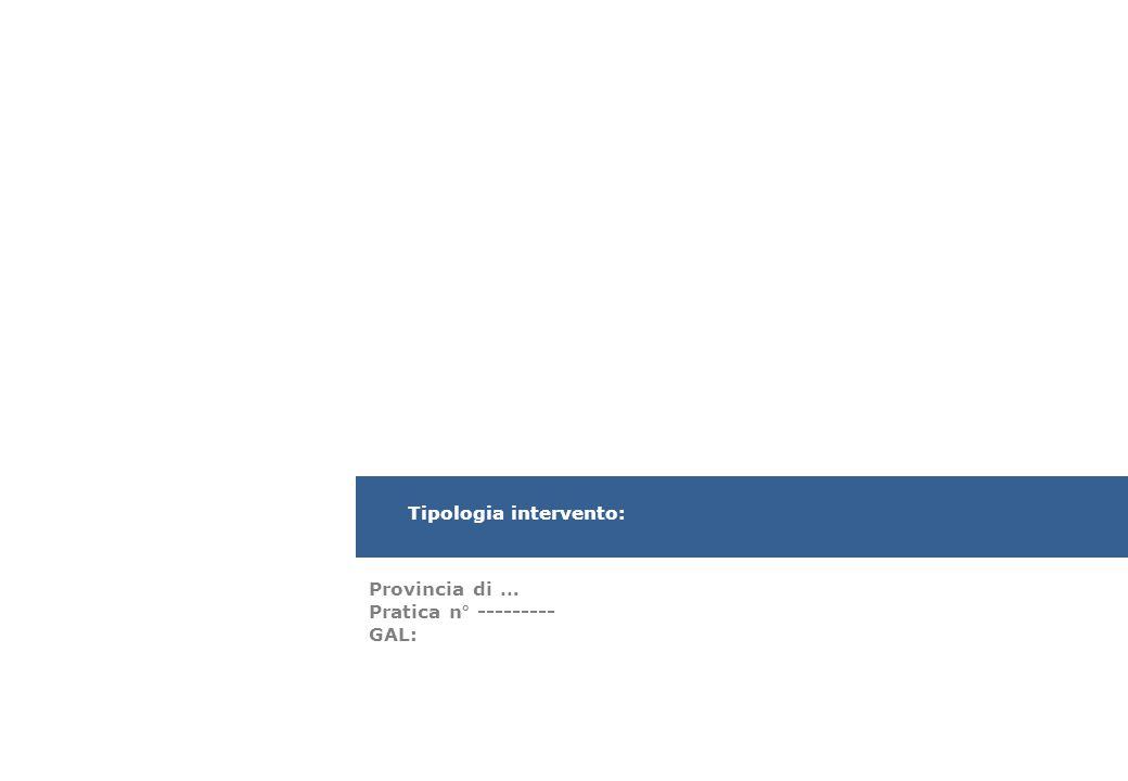Tipologia intervento:
