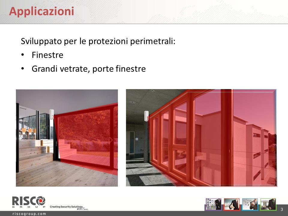 Applicazioni Sviluppato per le protezioni perimetrali: Finestre