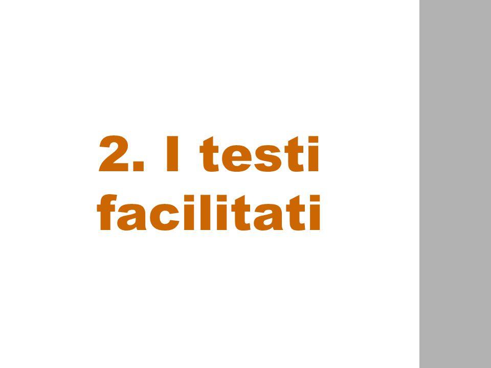 2. I testi facilitati