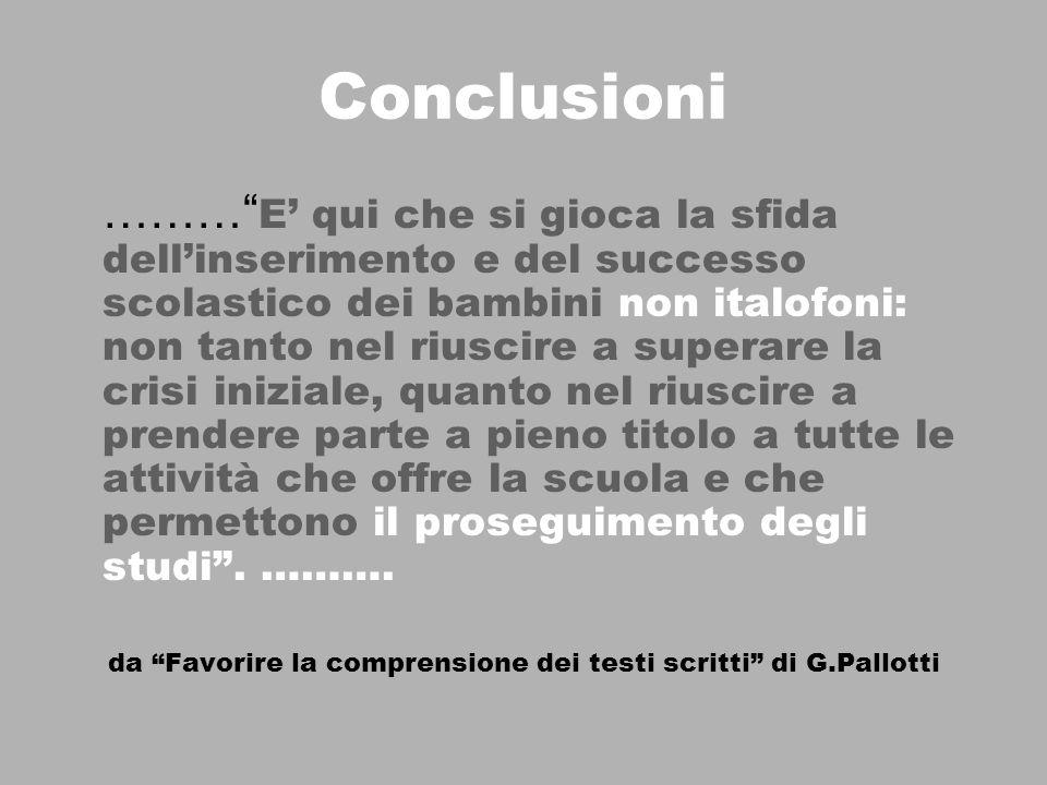 da Favorire la comprensione dei testi scritti di G.Pallotti