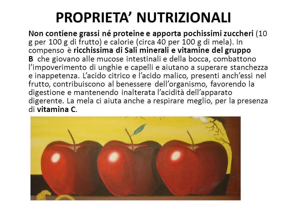 PROPRIETA' NUTRIZIONALI