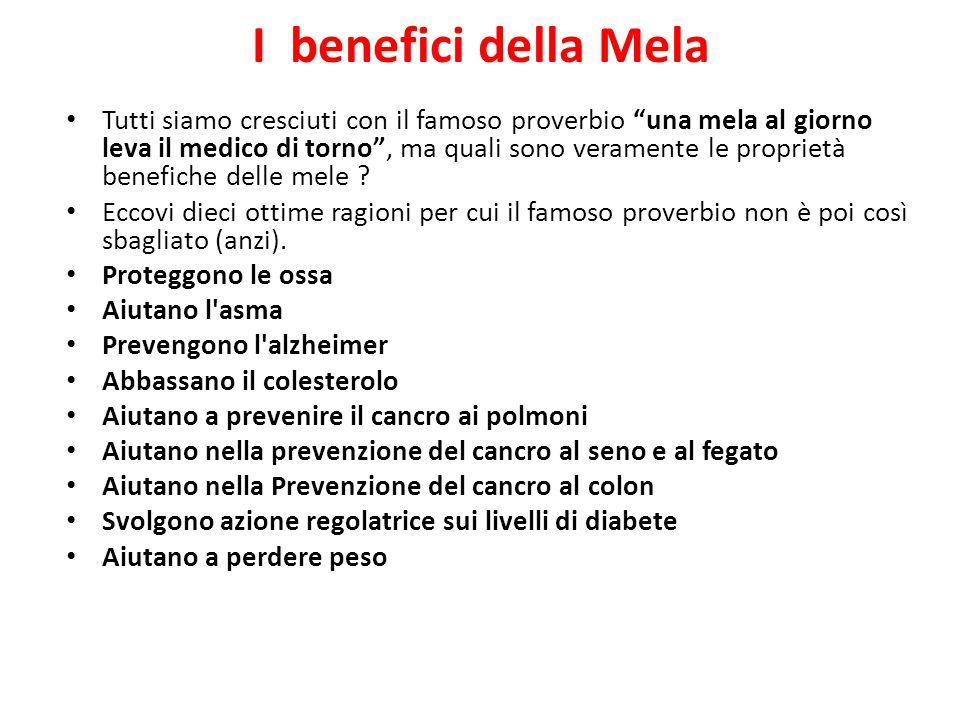 I benefici della Mela