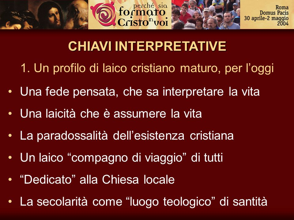CHIAVI INTERPRETATIVE