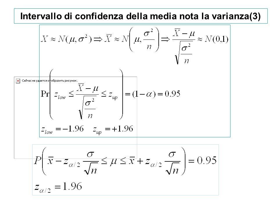 Intervallo di confidenza della media nota la varianza(3)