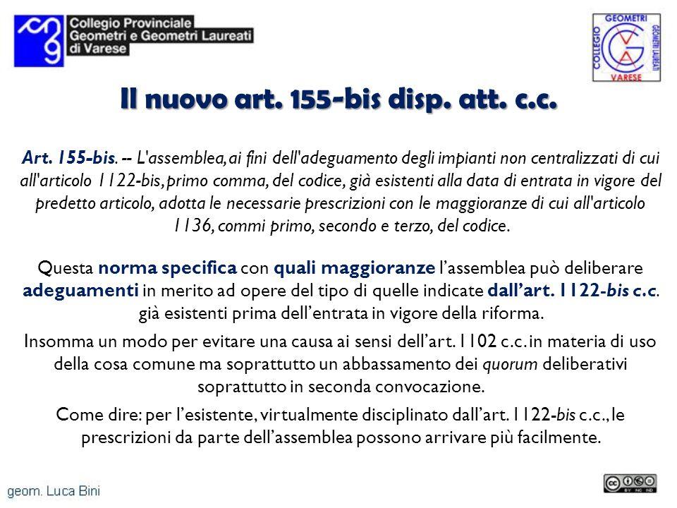 Il nuovo art. 155-bis disp. att. c.c.