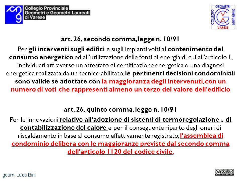 art. 26, secondo comma, legge n