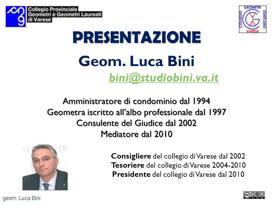 PRESENTAZIONE Geom. Luca Bini bini@studiobini.va.it