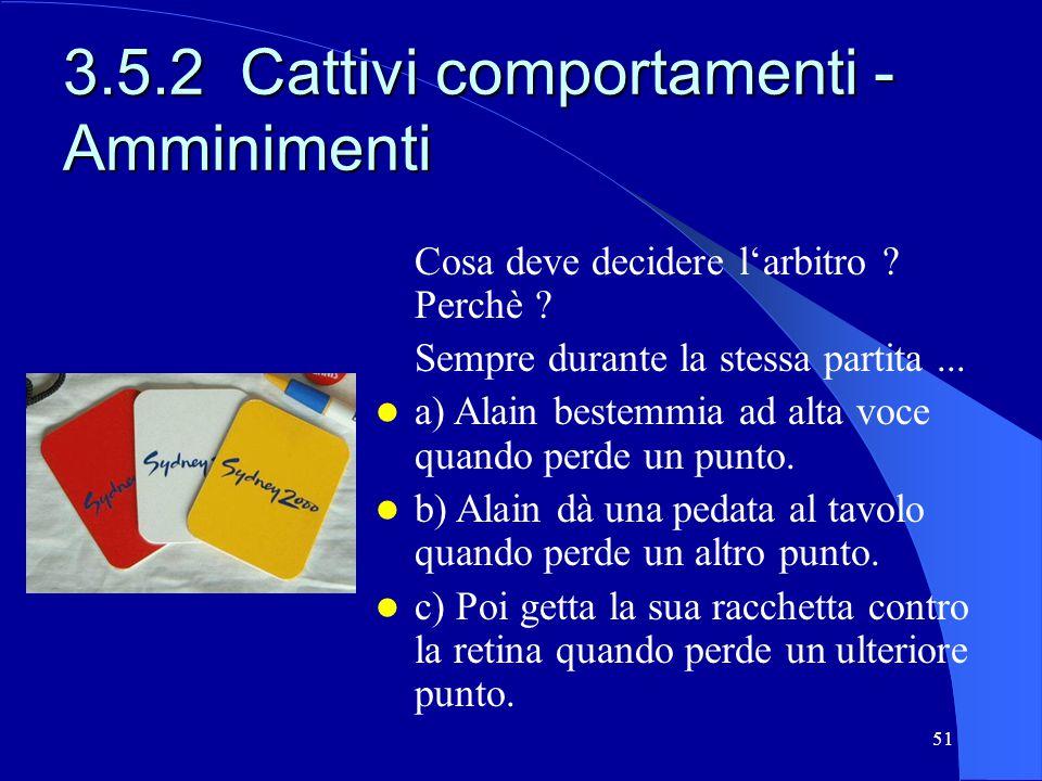 3.5.2 Cattivi comportamenti - Amminimenti