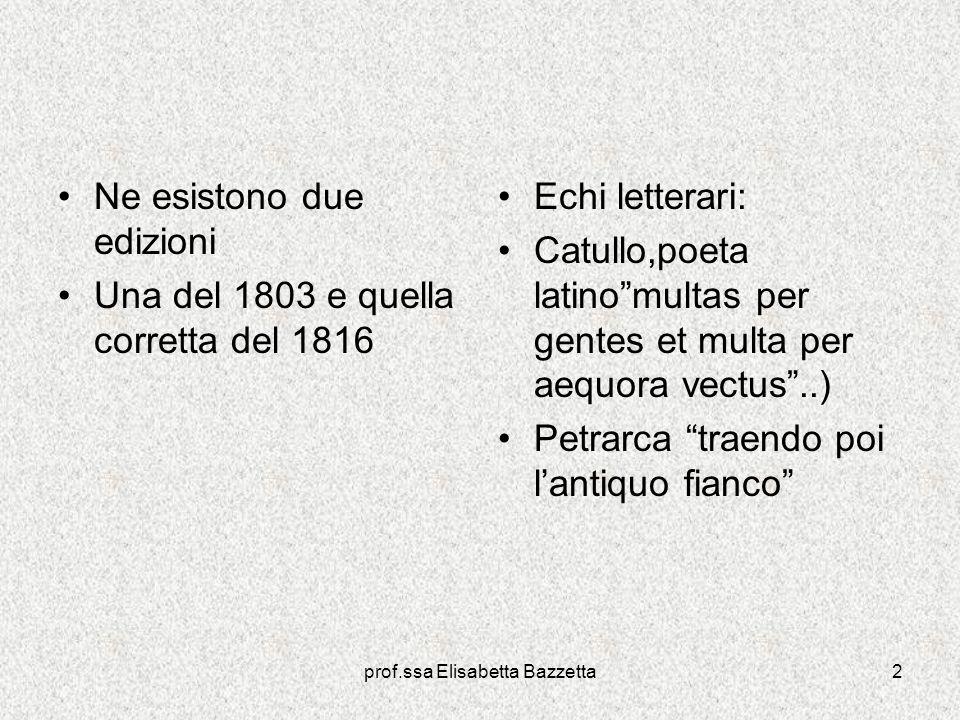 prof.ssa Elisabetta Bazzetta
