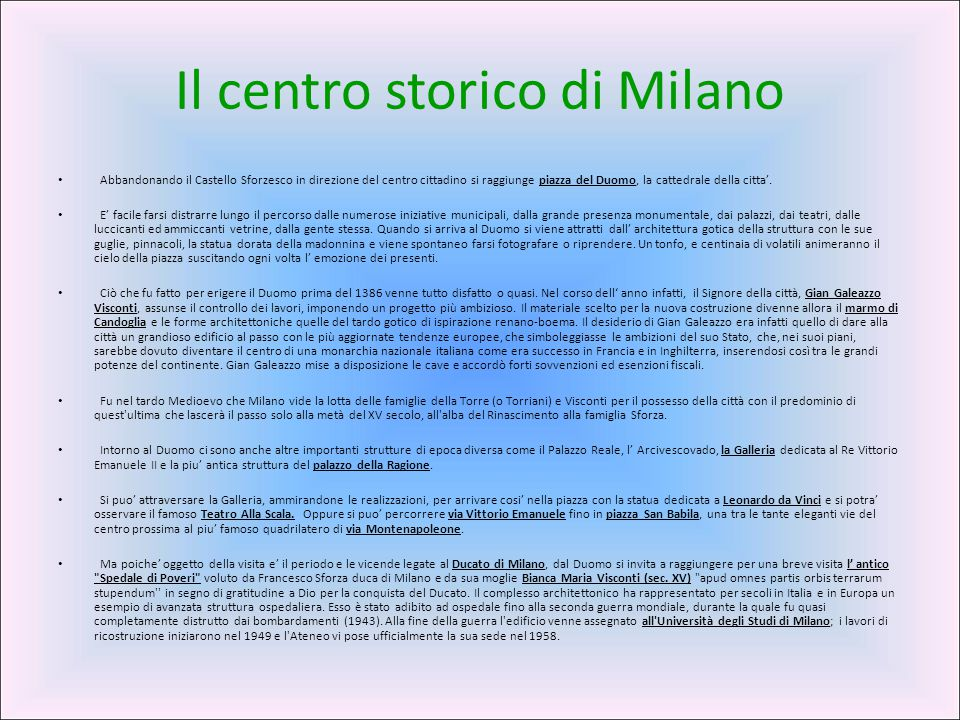 Il centro storico di Milano