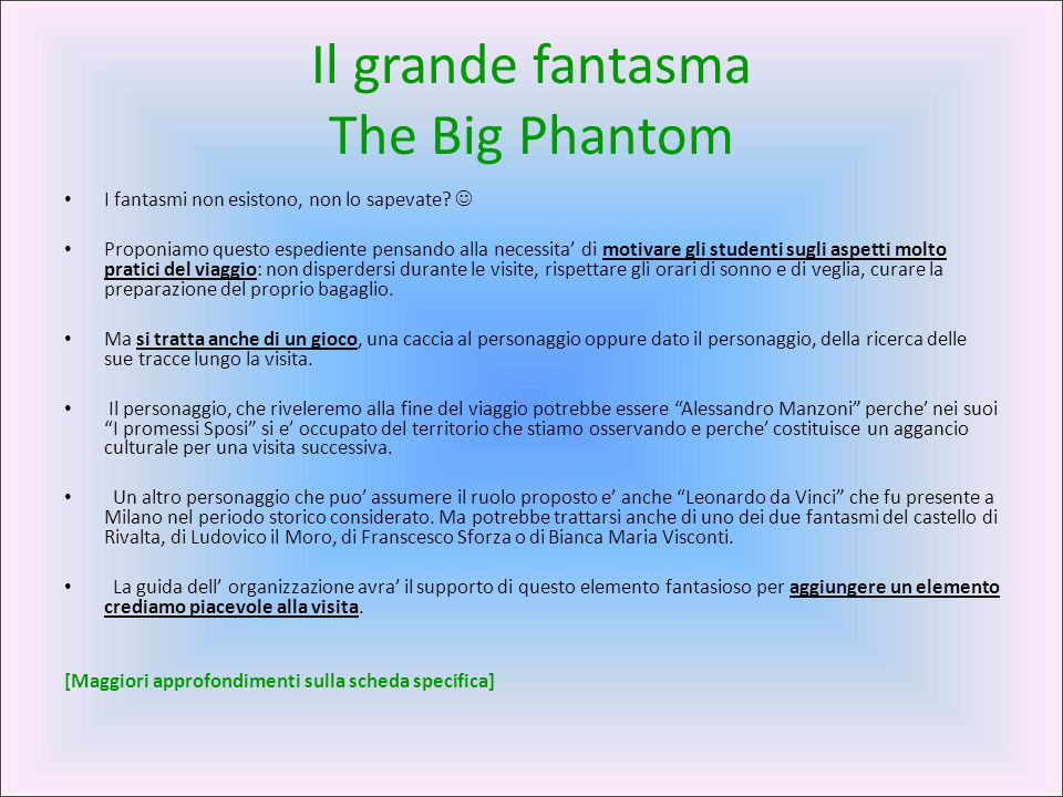 Il grande fantasma The Big Phantom