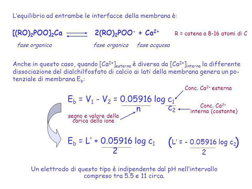 Un elettrodo di questo tipo è indipendente dal pH nell'intervallo
