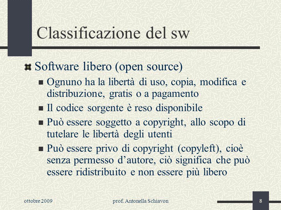 Classificazione del sw