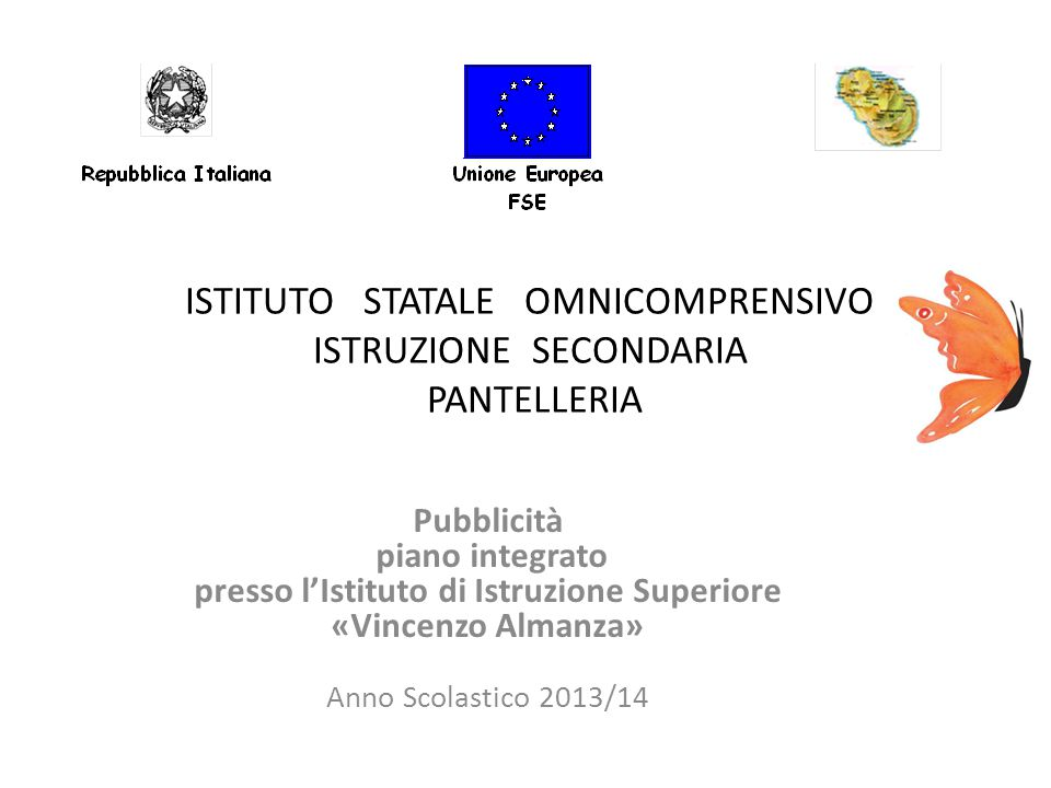 ISTITUTO STATALE OMNICOMPRENSIVO ISTRUZIONE SECONDARIA PANTELLERIA