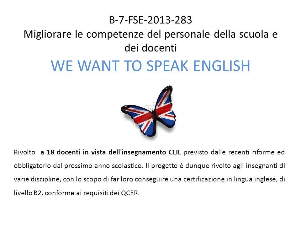 WE WANT TO SPEAK ENGLISH