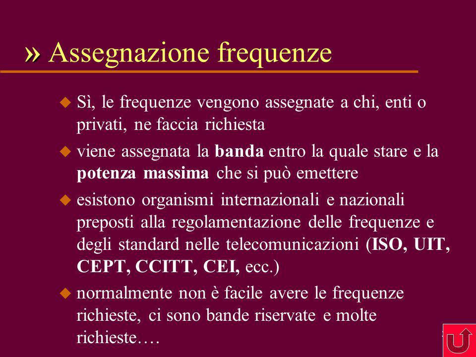 » Assegnazione frequenze