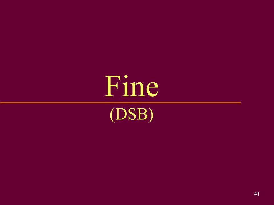 Fine (DSB)