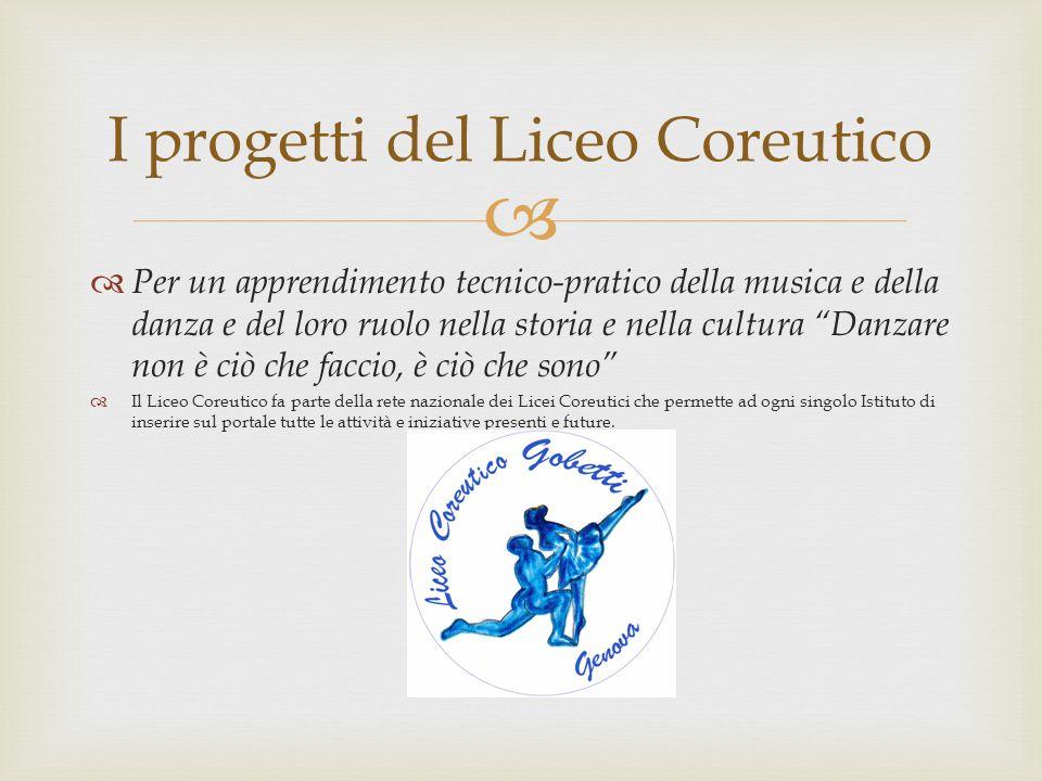 I progetti del Liceo Coreutico