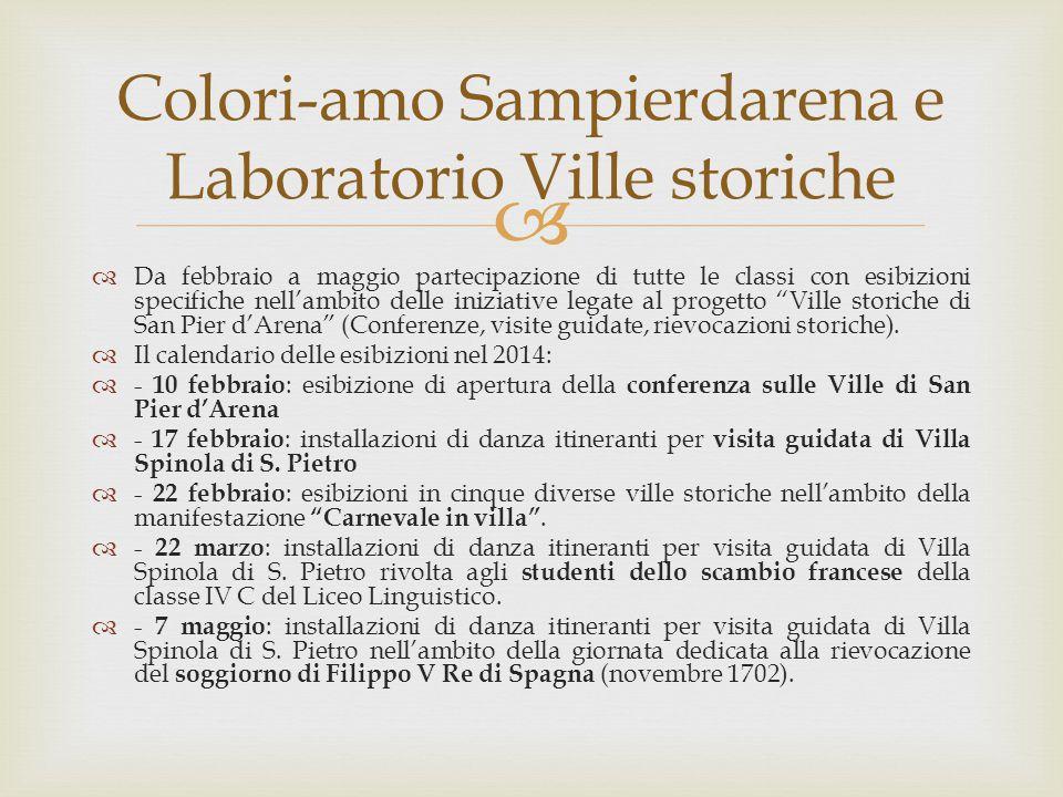 Colori-amo Sampierdarena e Laboratorio Ville storiche