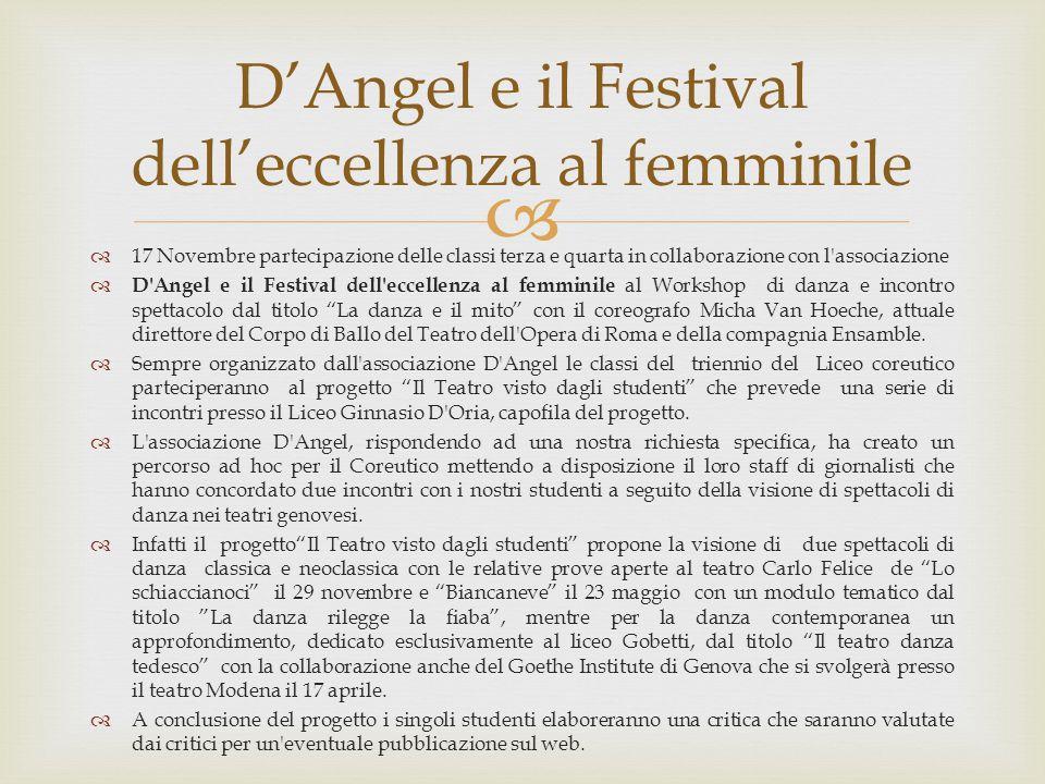 D'Angel e il Festival dell'eccellenza al femminile