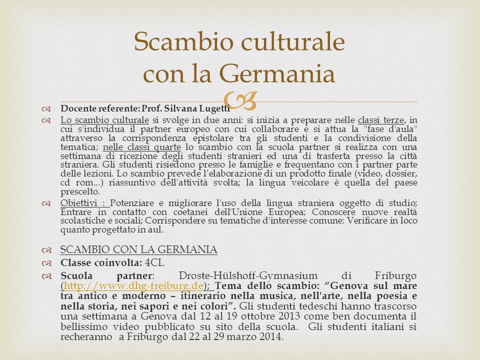 Scambio culturale con la Germania