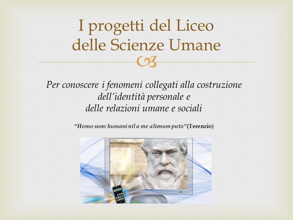 I progetti del Liceo delle Scienze Umane