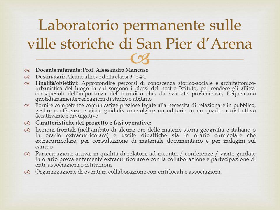 Laboratorio permanente sulle ville storiche di San Pier d'Arena