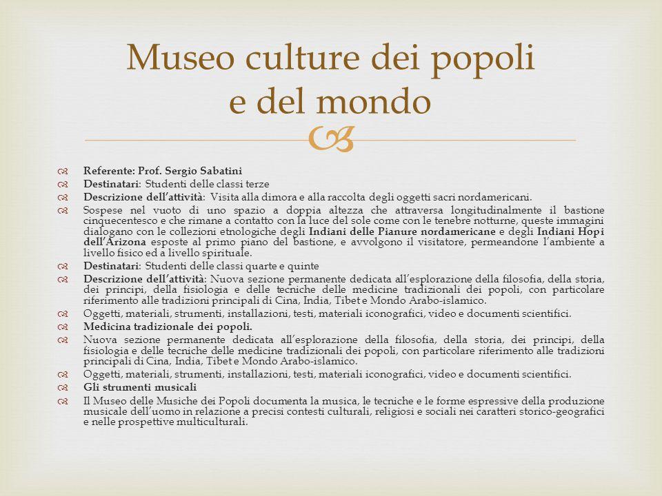 Museo culture dei popoli e del mondo