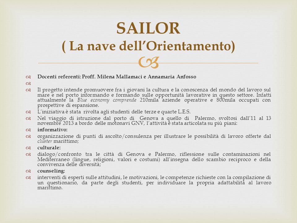 SAILOR ( La nave dell'Orientamento)